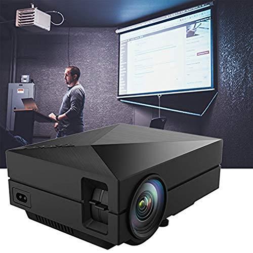 GBBG Mini 1080P Heimkino-Projektor, beweglicher LED Projektor 30-130 Zoll Projektions-Größe, kompatibel mit HDMI/VGA/USB/AV, TV-Stick, PS4 Etc.