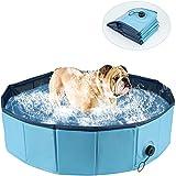Msoah Piscina Perros Y Gatos Bañera Plegable PVC Antideslizante Y Resistente Al Desgaste, Adecuado para Interior Exterior Al Aire