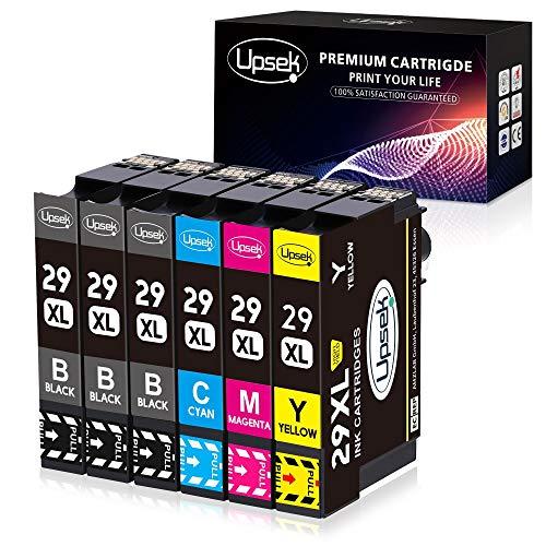 Upsek 29XL Cartouches d'encre Remplacer pour Epson 29 Multipack Compatible avec Epson Expression Home XP-235 XP-245 XP-255 XP-257 XP-332 XP-335 XP-342 XP-345 XP-352 XP-355 XP-432 XP-442
