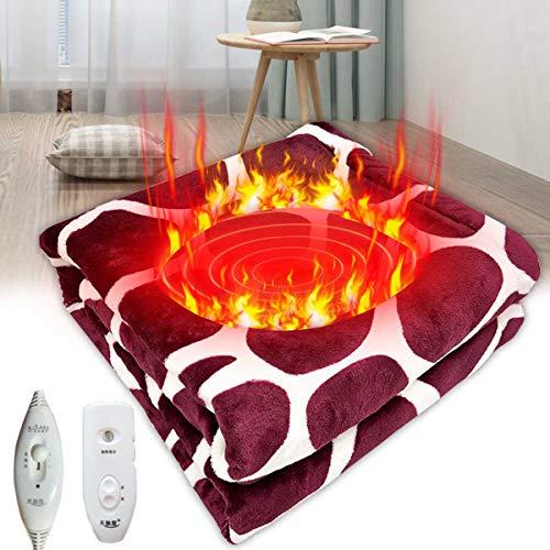 H&M Manta eléctrica de Felpa con calefacción, Manta eléctrica con calefacción, Mantas Calientes de Gran tamaño para Manta de Viaje Corporal,45x45cm