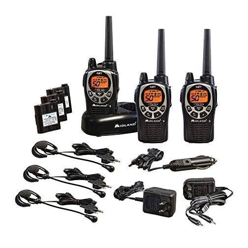 Midland 50 Channel Waterproof GMRS Two-Way Radio - Long Range Walkie Talkie with 142 Privacy Codes, SOS Siren, and NOAA… 3