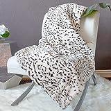 Cozy Acres 42x60 Snow Pearl Leopard Blanket Snow Medium