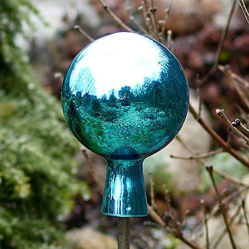Cristalica Rosenkugel Mini Gartenkugel verspiegelt 8cm Türkis