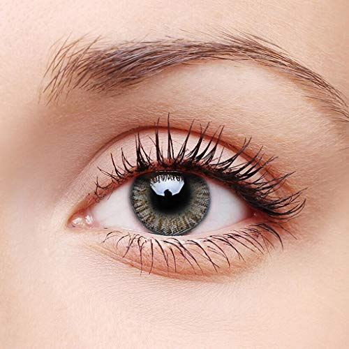 1 Paar Augapfel farbige Kontaktlinsen, größere Augen Supernatural_Lens, Cosplay-Zubehör Colourful Fashion Eye_Lenses (Braun)