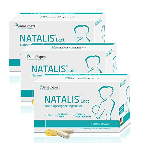 SanaExpert Natalis Lact, postnatale Vitamine für die Stillzeit, DHA, Vitamin-Komplex, Folsäure, Fenchel, Bockshornklee (3)