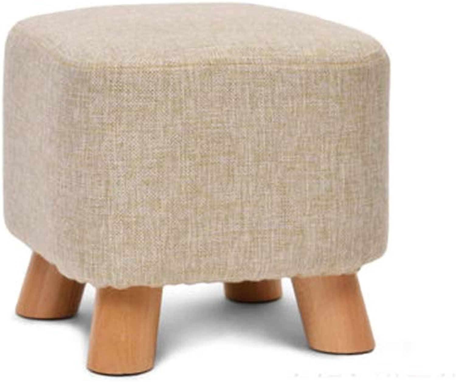 Square Stool Solid Wood shoes Stool Stool Storage Multi-Function Table and Chairs Home Change shoes Multi-color Optional (color   B)