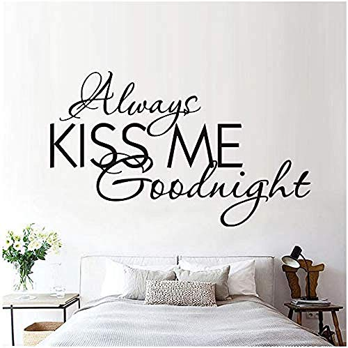 Wohnzimmer Wandaufkleber,Kiss me Forever Detachable Wall Decals Text Vinyl Every one Love Modern Wall Sticker Bedroom Romantic Bedroom Home Decoration 59x35cm