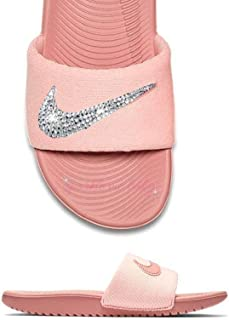 a759664bc4f2 Nike Slide Women s Rust Pink ~NEW~ Blinged ~ Swarovski Bedazzled Nike Slides  Customized for