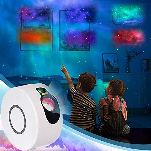 JRSWDS Starry Projector Light, LED Star Light with Remote Control Ocean Wave Star Projector 15 Lighting Modes Sky Projection Lamp for Kids Room Game Party Christmas