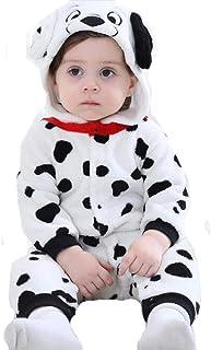Doladola Babyspielanzug Tier Dalmatiner Onesies Spielanzug Schlafanzug Flanell Frühling Strampler Pyjama Bekleidung Karikatur Tier Jumpsuit für Baby mädchen und Junge