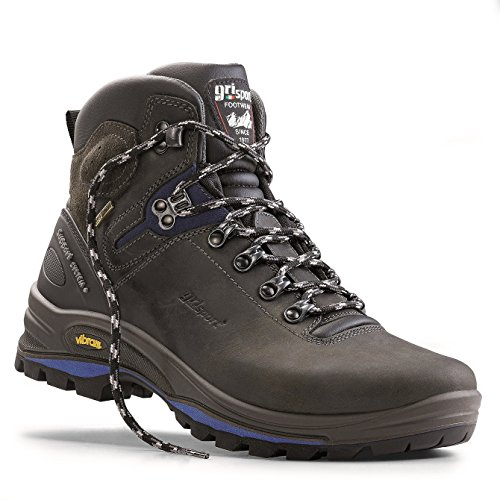 Grisport Unisex Schuhe Herren und Damen Explorer Gritex Wanderstiefel aus hochwertigem Leder,wasserabweisend,Virbram-Sohle Grau (V1),EU 41