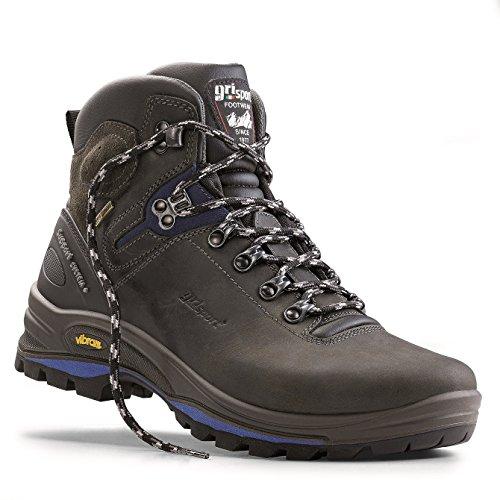 Grisport Unisex Schuhe Herren und Damen Explorer Gritex Trekking- und Wanderstiefel aus hochwertigem Leder, Membrankonstruktion, Virbram-Sohle Grau (V1), EU 43