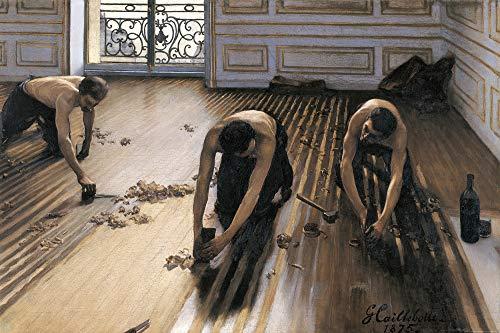 1art1 Gustave Caillebotte - Die Parkettschleifer, 1875 Poster Kunstdruck 120 x 80 cm