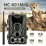 qylt fotocamera da caccia 2g 16mp 1080p, ip65 impermeabile fototrappola, 36 pcs 940nm ir leds macchine fotografiche da caccia, tempo di trigger 0.3s visione notturna a infrarossi 20m