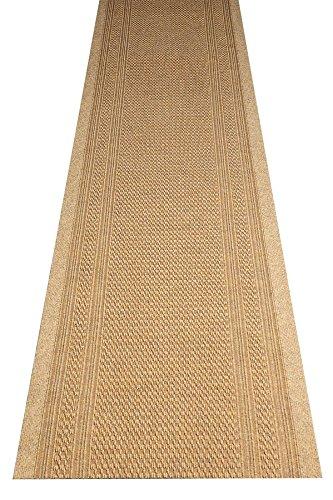 havatex Küchenteppich/Küchenmatte/Teppichläufer Arabo - und schadstoffgeprüft | robust pflegeleicht und schmutzresistent | Küche Flur Diele Veranstaltungen, Farbe:Natur, Größe:80 x 300 cm