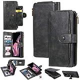 MAXJCN. Caso Per Samsung Galaxy Note 9, custodia per portafoglio in pelle PU Premium con custodia a slot per carte massicci, folio 2-in-1 con cerniera con cerniera magnetica magnetica tasca magnetica,
