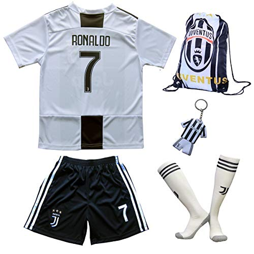 Juventus Ronaldo Trikot Set 7 Heim 2018 19 Kinder Fussball Trikot Mit Shorts Und Socken Kinder 11 12 Jahre