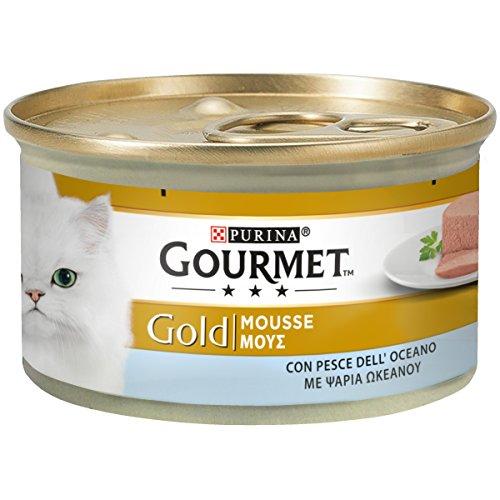 Purina Gourmet Gold - Mousse con Peces del océano, 24 latas