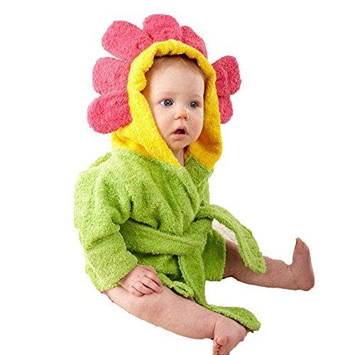 Minuya Kinder Baby Jungen/Mädchen Bademäntel, Baby Bademantel mit Kapuze, Tiermuster weiche mit Kapuze Bademäntel Baumwolltücher für Baby 0-6 Jahre