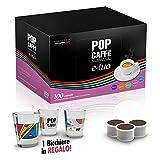 100 capsule POP E-TUO CREMOSO compatibile AROMA VERO ,COOP FIOR FIORE .LUI CAFFE
