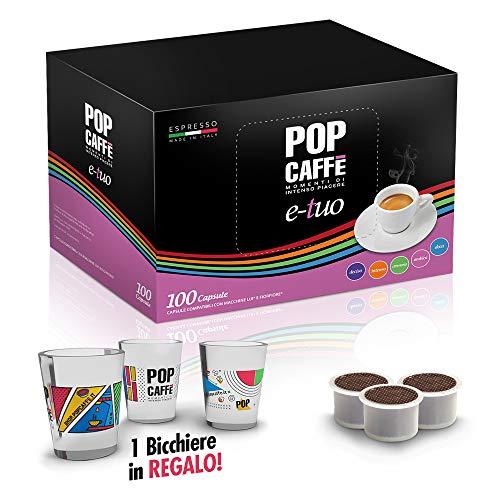 100 Cápsulas Pop Caffè e-tuo mezcla 2 cremoso COMPATIBLES Mitaca MPS, Fior fiore y Lui Espresso