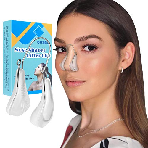 Nose Shaper Clip, QUECC Pain-Free Nose Bridge Straightener Corrector, Soft Silicone Nose Slimming Rhinoplasty Device Nose Up Lifting Clips Tool(Unisex)