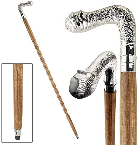 Design Toscano Animal Menagerie Chrome-Plated Walking Stick Collection: Cat