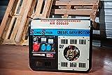 Generador de corriente diesel 3600W–220/380V arranque eléctrico