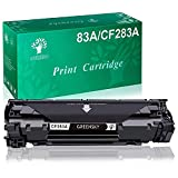 GREENSKY cartouche de toner compatible pour HP CF283A 83A pour HP Laserjet Pro MFP M125a M125nw M125nw M126a M126nw M127fn M127fp M127fw M128fn M128fw M128fw M121fw M121fw M201dw M202dw (1 Noir)
