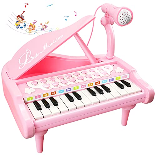 Love&Mini Piano Keyboard Toy for Kids, Baby Girls Toys Learning Education Musical Toy for 1 2 3 4 Years Old Girls First Birthday Gifts