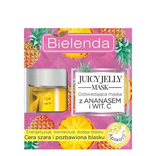 Bielenda Juicy Jelly Masker Verfrissend Masker Ananas en Vitamine C 50g