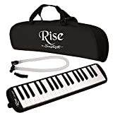 Rise by Sawtooth Piano Style Melodica with 37 Keys, Black, (ST-RISE-MEL-37-BLK)