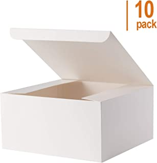 Giftol Large Gift Box 10 Pack 8 x 8 x 4 inches Fold Box Paper Gift BoxBridesmaids ProposalBox for Bridal Birthday Party Christmas