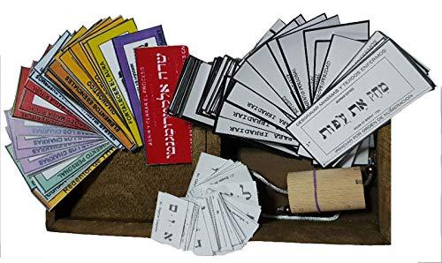 PENDULO HEBREO + Caja de Madera + Etiquetas