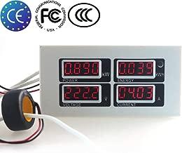 Qianqian56 6in1 Digitaler AC 80~260 V Power Energy Monitor Spannungsstrom kWh Watt Meter 100A