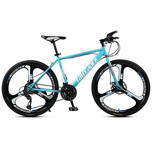 COSCANA Bicicleta De Montaña 21-30 Velocidades MTB 26'Ruedas Freno De Disco Doble Bicicleta De Montaña Antideslizante para Hombres Mujeres Adultos AdolescentesBlue-21 Speed