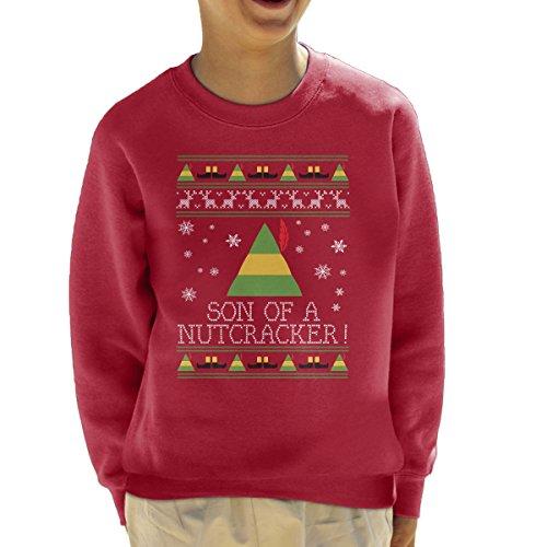 Zoon van een notenkraker Elf Citaat Kerstmis Knit Kid's Sweatshirt