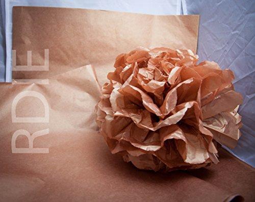 24 feuilles de papier de soie Marron, 50x75cm, 18 grs