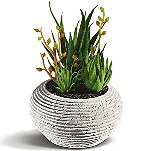 Silk Flower Arrangements Digger House Succulents Artificial Plants in Pots for Home Decor Indoor