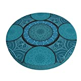 TOMKNN Round Bar Stool Covers, Mandala Pattern Bar Stool Cover, Super Soft and Washable Stool Cushion Slipcover, 14 Inch
