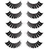 CGlash False Eyelashes 3D Faux Mink Eyelashes Volume Handmade Fluffy Eyalashes for Women Makeup 5D Fake Eyelashes 5Pairs   Pearl
