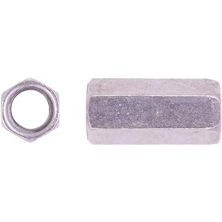 U-Turn 100 Pack 1//2-13 Coupling Nut Zinc Plated 1-3//4 Length