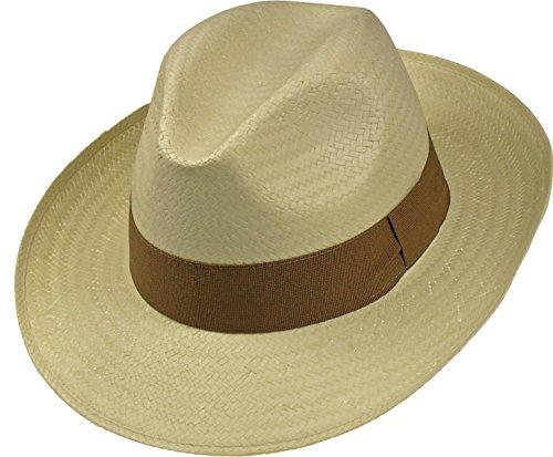 Harrys-Collection Harrys-Collection Leichter Hut in 3 Farben große Bogartform!, Farben:beige, Kopfgröße:55