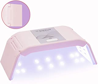 UV Gel Nail Lamp, BZ 36W USB Rechargeable Nail Dryer Light Curing Lamp Portable Professional Gel Nail Light for Fast Drying Fingernails(Pink)