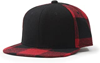 Premium Wool Blend Plaid Adjustable Snapback Baseball Cap
