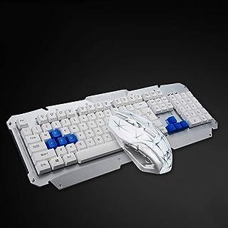 DZSF 2.4Ghz trådlöst tangentbord och mus uppsättning metalldräkt multimedia vattentät mekanisk känsla speltangentbord opti...