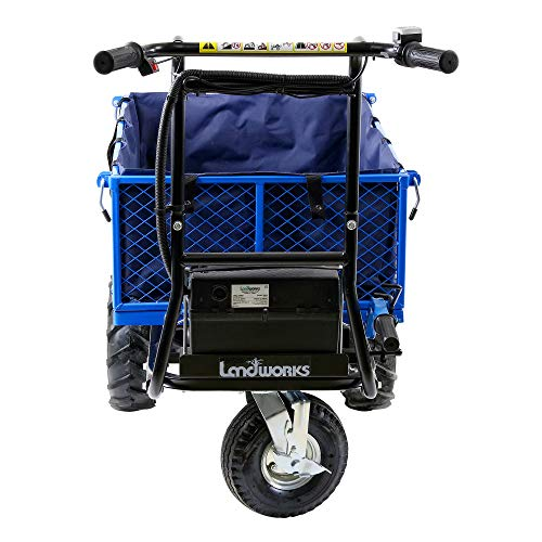 Landworks Tarp Liner Debris Dirt Material Transport Hauler Carry Bag 500 Lbs (Pounds) Max Load Capacity Super Heavy Duty Accessory for Electric Wheelbarrow/Wagon/Utility Cart