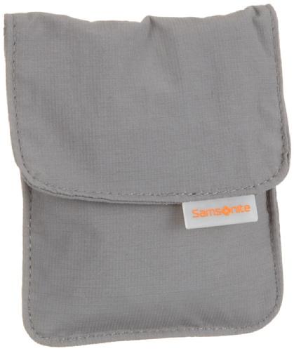 Samsonite Travel Accessor. V Triple Pocket Neck Pouch Portadocumenti da collo, Grigio (Grigio)