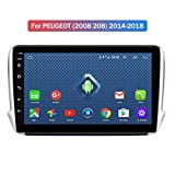 JIERTYU 4G LTE All Netcomm 10.1 Inch Android 8.0 Car GPS Multimedia for Peugeot 2008 208 Series 2015-2018 Navigation Player, AM FM RDS Auto Radio