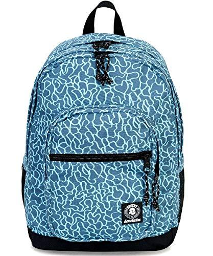 ZAINO INVICTA - JELEK - Fantasia Azzurro - tasca porta pc padded - 38 LT -